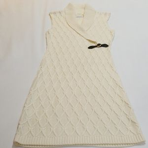 Calvin Klein Sleeveless Cable Knit Sweater Dress